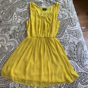 Iz Byer yellow dress